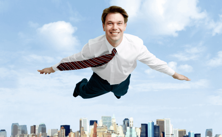 Летающий мужчина