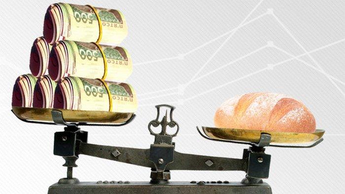 Хлеб и деньги на весах
