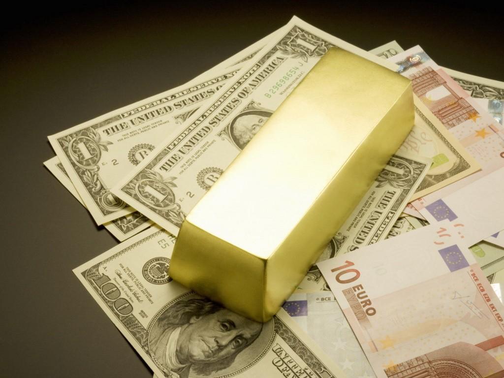 Слиток с деньгами