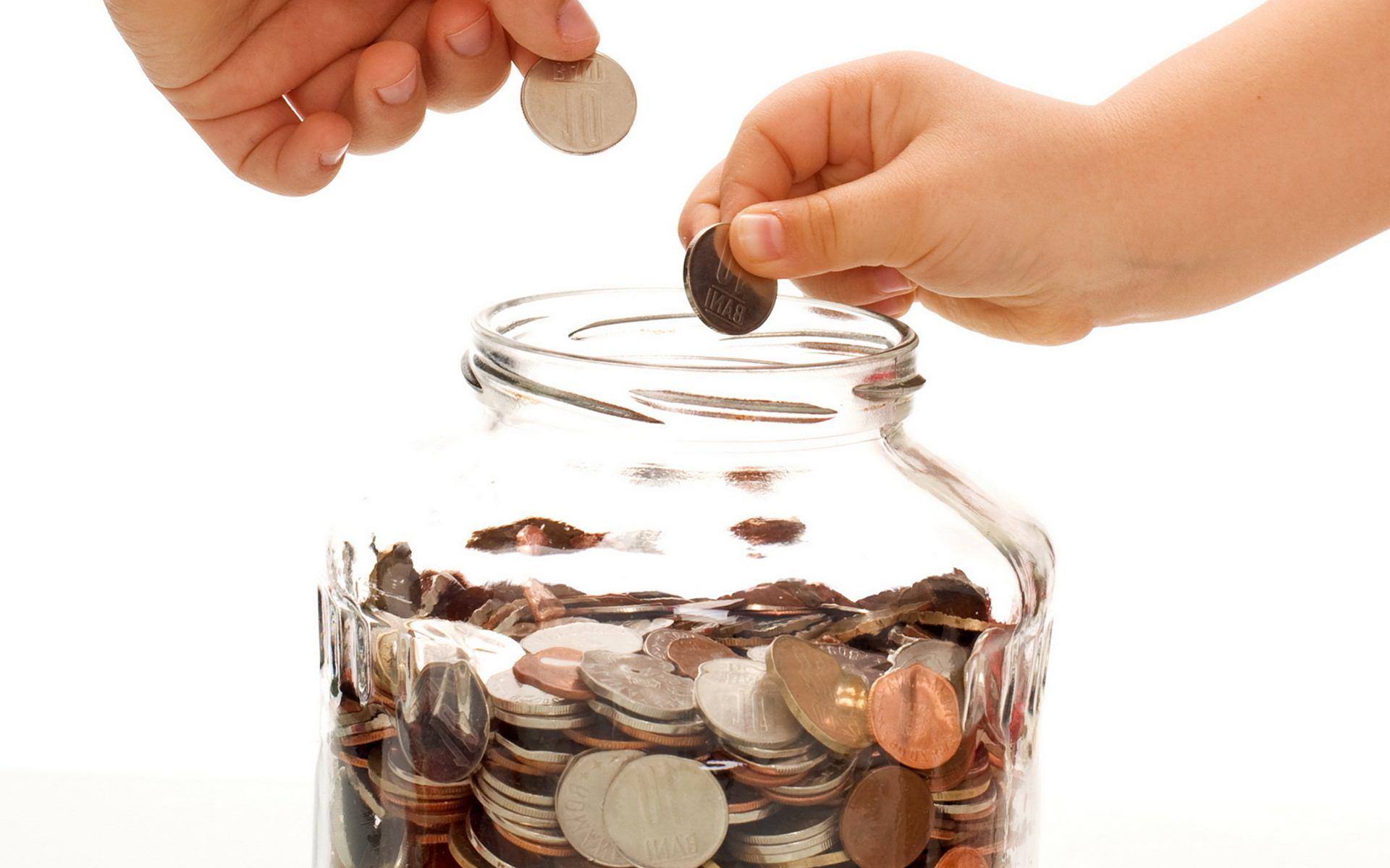 Банка с монетами