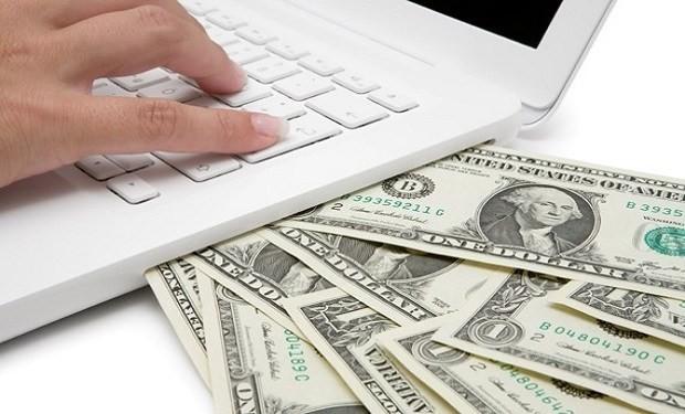 Ноутбук с купюрами