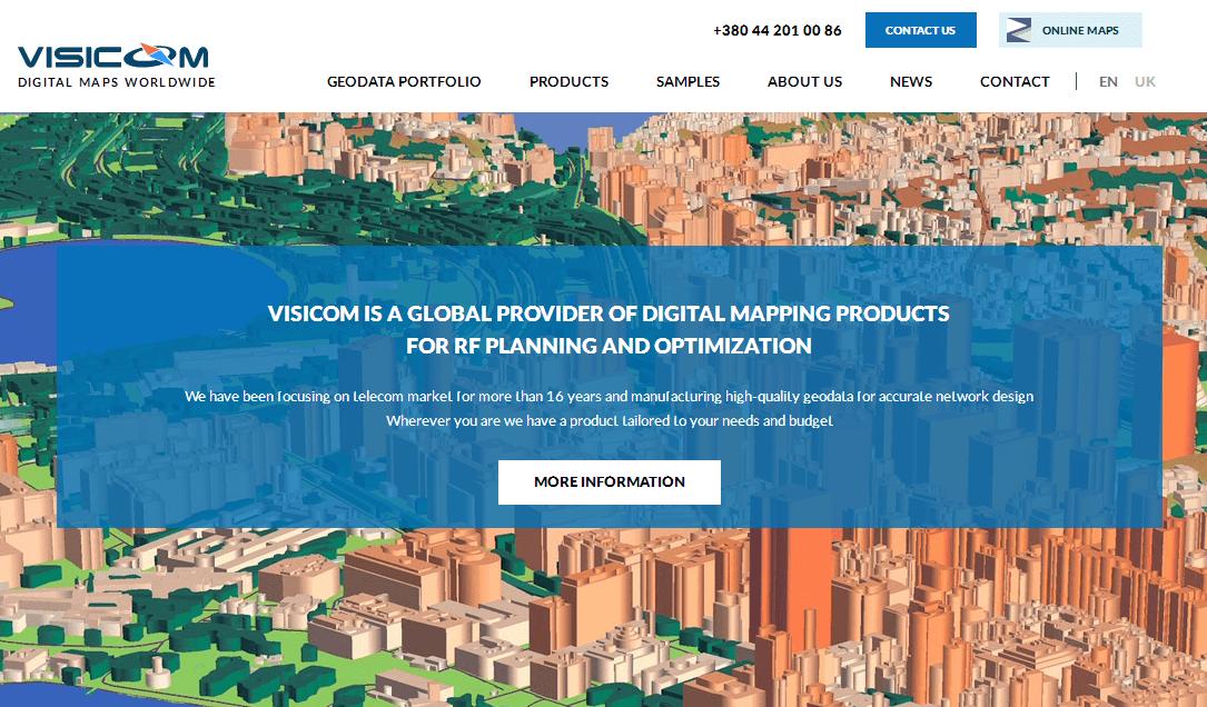 Официальный сайт maps.visicom