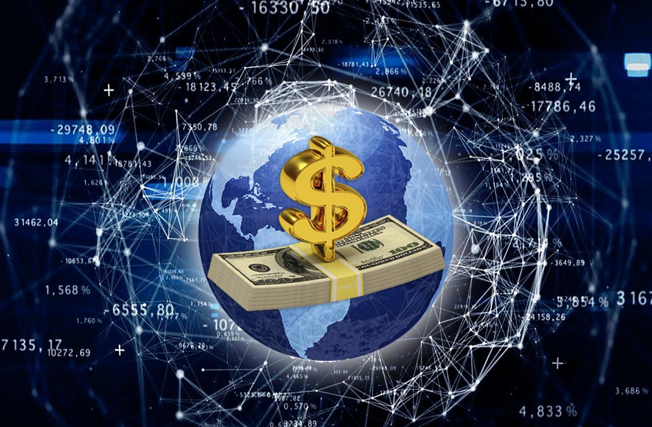 Доллар с деньгами
