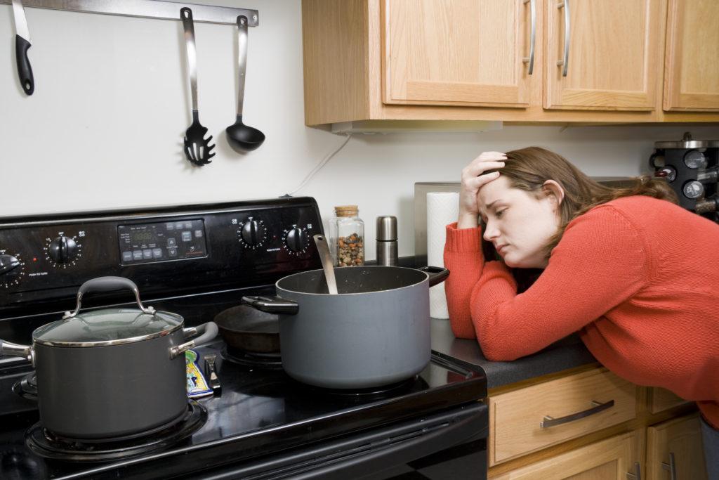 Домохозяйка спит
