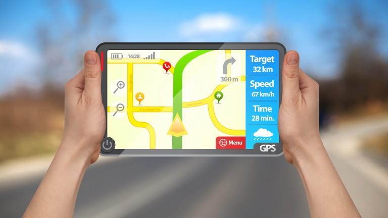 Карта в мобильном телефоне