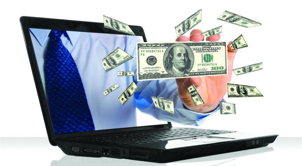 Доллары в ноутбуке