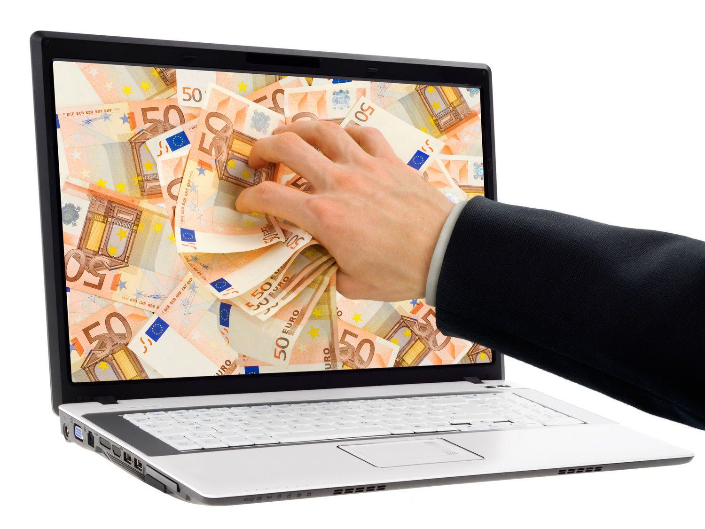 Деньги в ноутбуке